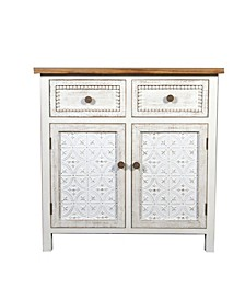 Wood And Metal Buffet Console Cabinet