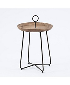 Metal And Wood Drink Table