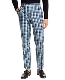Men's Classic-Fit Plaid Madras Performance Pants