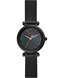 Women's Mini Carlie Black Stainless Steel Mesh Bracelet Watch 28mm