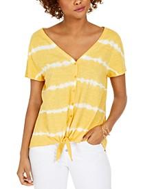 Tie-Dye Tie-Front Top, Created For Macy's