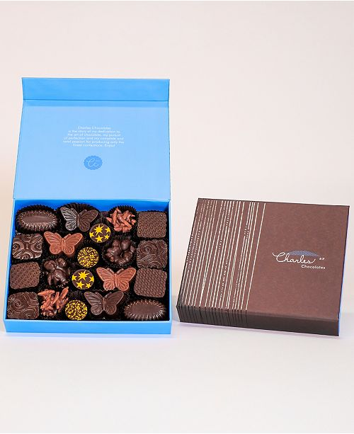 Charles Chocolates Nuts, Pralines & Caramels Collection, Large Box (20 piece)