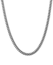 "Curb Link 20"" Chain Necklace in Sterling Silver"