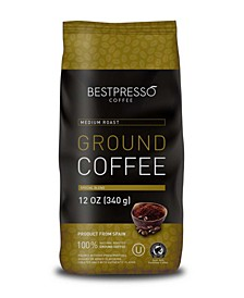 Medium Roast Flavor Ground Coffee, 3 pack of 12oz Bag
