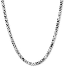 """Curb Link 24"""" Chain Necklace in Sterling Silver"""