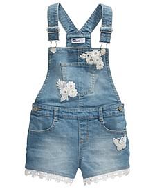 Toddler Girls Crocheted Denim Shortalls, Created For Macy's
