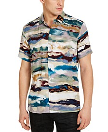 INC Men's Big & Tall Watercolor Striped Shirt, Created for Macy's