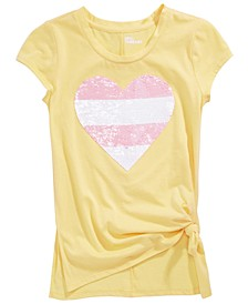 Big Girls Reversible-Sequin Heart T-Shirt, Created For Macy's