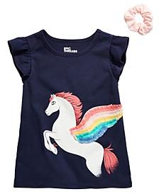 Little Girls 2-Pc. Pegasus T-Shirt & Scrunchie Set, Created for Macy's