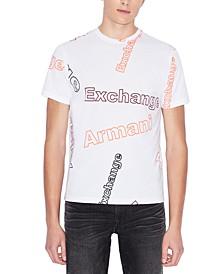 Short Sleeve Allover Logo Print T-Shirt