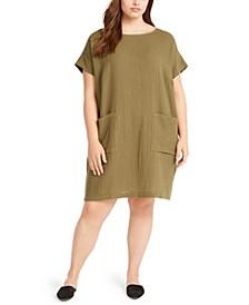 Crinkle Pullover Dress