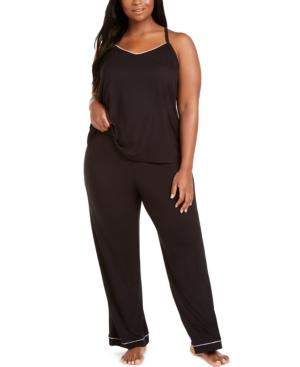 Plus Size Knit Tank Top Pajama Set
