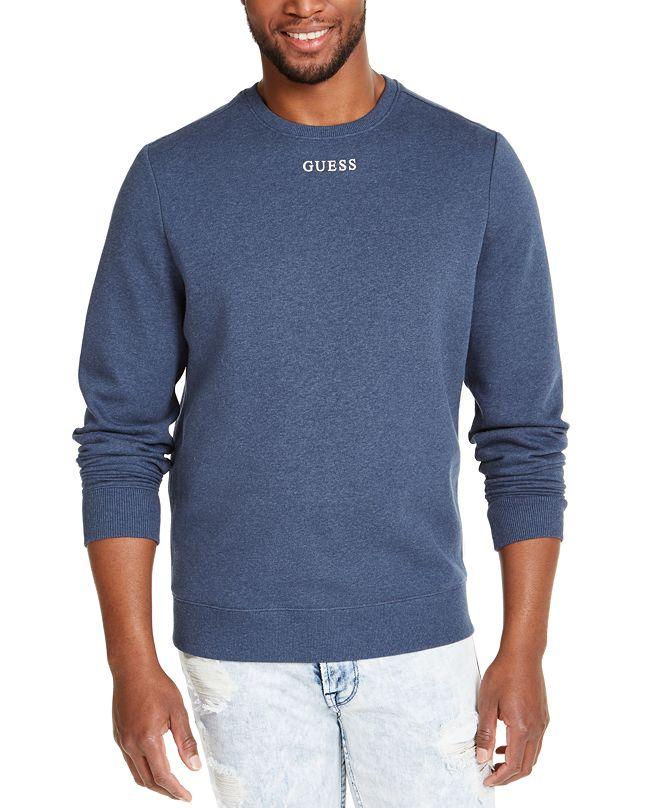 GUESS Men's Fleece Logo Sweatshirt