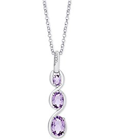 "Amethyst Graduated Journey 18"" Pendant Necklace (1-1/2 ct. t.w.) in Sterling Silver"