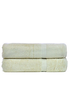 BC Bare Cotton Luxury Hotel Spa Towel Turkish Bath Sheets, Set of 2