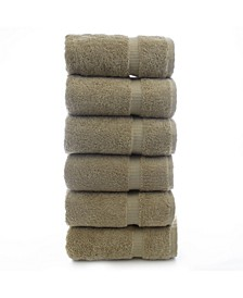Luxury Hotel Spa Towel Turkish Cotton Hand Towels, Set of 6