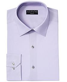 Men's Big & Tall Slim Fit Performance Stretch Easy-Care Solid Dress Shirt, Created for Macy's