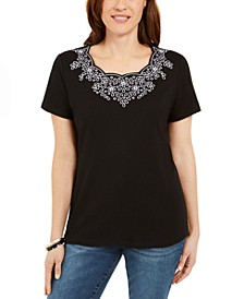 Scalloped Studded Top, Created for Macy's