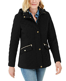 Laundry by Shelli Segal Water-Resistant Hooded Quilted Jacket