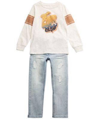 Little Boys Hero T-Shirt, Created for Macy's