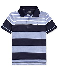 Little Boys Performance Stretch Jersey Polo Shirt