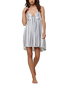 Juniors' Striped Cover-Up Dress