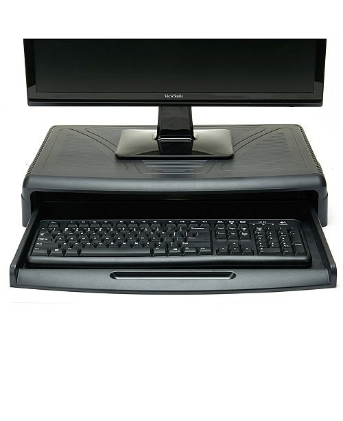 Mind Reader Monitor Stand with Keyboard Desk for Computer Monitor, Laptop, PC, MacBook