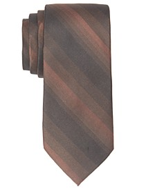 Men's Leigh Slim Ombré Stripe Silk Tie, Created For Macy's