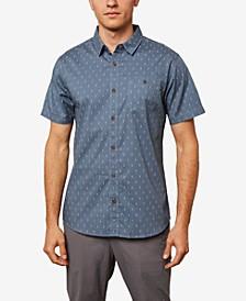 Men's Tame Short Sleeve Micro Print Woven Shirt