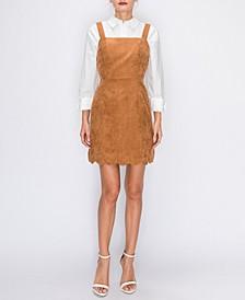 Corduroy Scallop Edge Dress