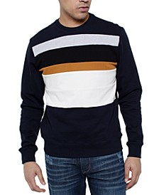 Men's Colorblocked Stripe Sweater