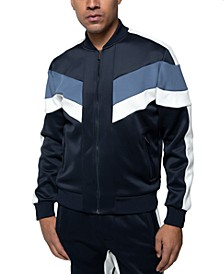 Men's Chevron Zip-Front Track Jacket