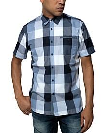 Men's Chambray Buffalo Plaid Shirt