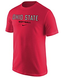 Men's Ohio State Buckeyes Core Softball Wordmark T-Shirt