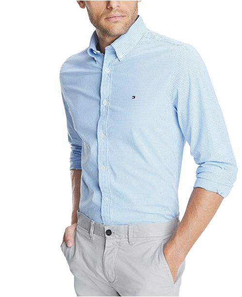Tommy Hilfiger Men's Willoughby Stretch Gingham Shirt
