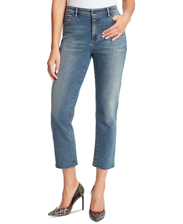 Skinnygirl Women's Warren High-Rise Straight Ankle Jeans