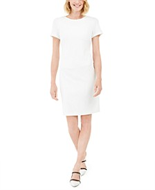 Karl Lagerfeld Faux-Pearl-Trim Sheath Dress