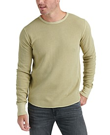 Men's Long-Sleeve Topstitched T-Shirt