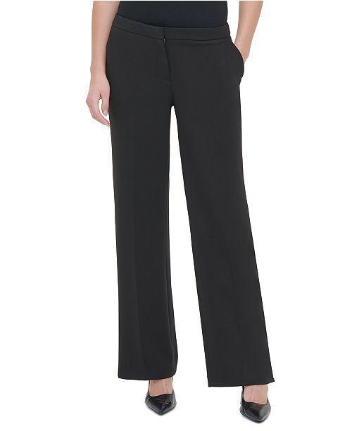Calvin Klein Slit Wide-Leg Pants