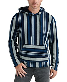 Men's Striped Baja Pullover