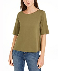 Elbow-Sleeve Top