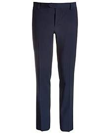 Big Boys Classic-Fit Stretch Navy Blue Suit Pants