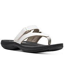 Clarks Collection Women's Brinkley Marin Flip-Flop Sandals