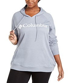 Plus Size Logo-Print French Terry Hoodie