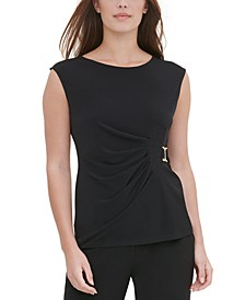 Side-Buckle Sleeveless Top