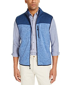Men's Colorblock Fleece Sweater Vest, Created for Macy's