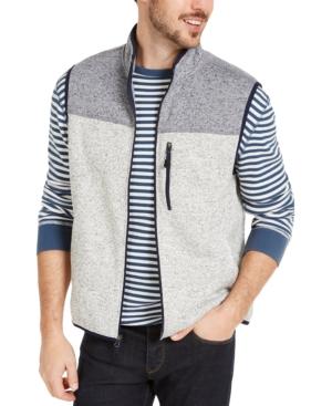 Men's Colorblock Fleece Sweater Vest