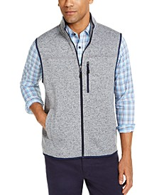 Men's Solid Fleece Sweater Vest, Created for Macy's