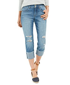 Destructed Cuffed Capri Jeans, Created For Macy's