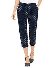 Polka-Dot Chino Capri Pants, Created For Macy's